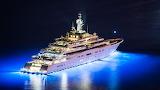 megayacht night sea