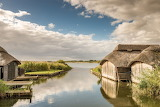 Boathouses on Hickling Broad, Norfolk UK