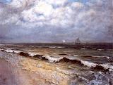The Beach at New Brighton - Hans Thoma 1881