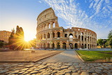 Colosseum at sunset-rome-italy