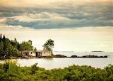 Abandoned fish shacks