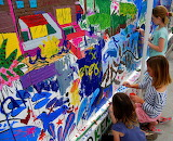 Young at Art mural painting for children