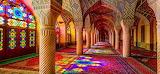 Nasīr al-Mulk Mosque in Shiraz. Iran