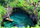 Magical Salt Water Pool on the Samoan Island of Upolu