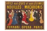 Leonetto Cappiello, Affiche, Macaronis Ferrari Opéra Paris, 1904