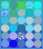 Octagon Patches, Blue tones