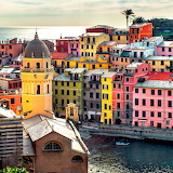 Colourful Houses in Vernazza