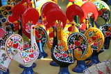 Ceramic roosters