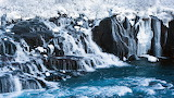 Beautiful Iceland - Hraunfossar in winter