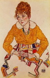Portrait of the artists wife 1917 by Egan Schiele