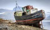 Boat wreck Corpach Scotland