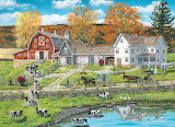 Farm by the Lake by Bob Fair...