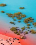 Colourful ocean