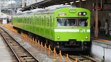 Green jr train, Nara, Japan