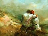 Couple amoureux-peinture