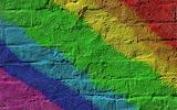 ^ Rainbow brick wall