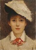 Louise Jopling, Autoportrait, 1877