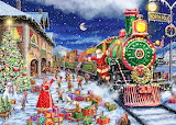 Colours-colorful-Santa's Special Delivery-painting-Jigsaws