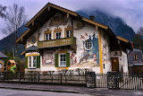 A house in the village of Oberammergau
