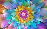 Pastel fan flower by wolfepaw