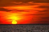red sunset beach