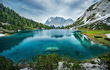 Lake on the Top of the Austrian Alps