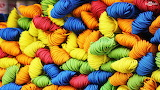 ^ Yarn in many colors