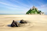 The sands of Mont Saint Michel - France