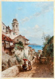 Villefranche Near Nice After Theodor Weber