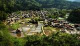 Japanese village skyline