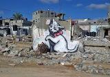 Banksy, Chaton à Gaza, 2015