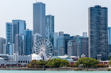 Skyline from the navy pier Chicago