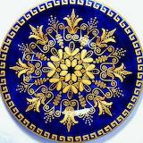 blue & gold mandala