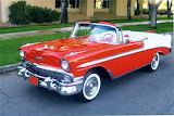1956 Chevrolet convertible red white