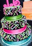 Neon cake @ Chocolate Carousel