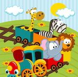 Animals on a train