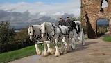 Wedding carriage at Tutbury Castle