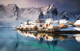 Mountains Houses Coast Lofoten Norway 513588 1280x823