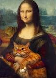 Mona Lisa and fat cat