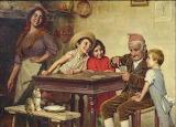 Partita di carte col nonno
