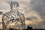 Prag, Place Jan Palach, sculpture by Jaume Plensa, CZ