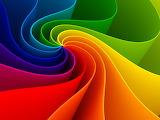 Rainbow Ribbon Swirl
