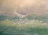 Arkhip Kuindzhi. Waves. Etude