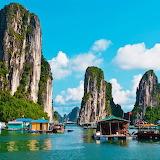 Fishing at Halong Bay, Vietnam...