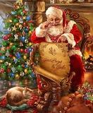 Santa at tree
