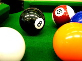 Pool Balls on Table Close up