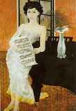 Philip Evergood, Woman at the piano, 1955