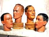 Vintage Barber's Shop Mannequin Heads