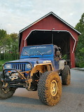 Jeep Wrangler and Covered Bridge