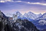 Winter Scenery of the Neuschwanstein Castle in Bavaria
